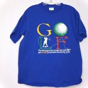 Other - * Single Stitch * Blue GOLF Tee With large Graphic